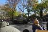 NYPD followed the parade, fully armed. Macy's Thanksgiving Day Parade around 65th Street, NY