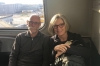 Bruce & Thea on the AirTrain from JFK, New York