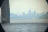 Manhatten through a telescope, Tarrytown, New York