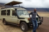 First stop in the Ngorongoro Crater, to lift the roof of the truck, Tanzania