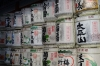 Sake barrels at the Toshogu Shrine, Nikko, Japan