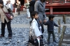 Children's blessing (3yo, 5yo & 7yo) at the Toshogu Shrine, Nikko, Japan