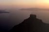 Scaros rock from Anita's Villa, Imerovigli, Santorini