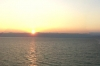 Sunset from the Movenpick resort on the Dead Sea