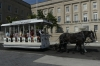 Horse driven trolley car in front of the old Customs House, Wilmington NC