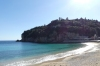 Beach in the village of Palaiokastritsa, Corfu GR