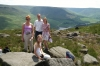 Thea, Paul, Kay & Eleanor on Lancashire Moors UK