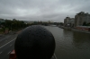 The Moskva River from the pedestrian bridge. Moscow RU