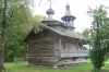 Small Russian Orthodox church in the Museum of Wooden Architecture near Novorod RU