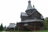 Russian Orthodox church in the Museum of Wooden Architecture near Novorod RU