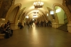 The architecture in the underground in Moscow is famous for its varied designs.  Here is our first impression. RU