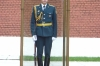 Soldier guarding the tomb of the unknown soldier, immediately outside the wall of the Kremlin. Moscow RU