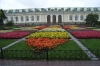 The floral exhibition in front of the Manezh Central Exhibition Hall in the Alexandrovsky Gardens, immediately outside the wall of the Kremlin. Moscow RU