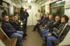 The tour group on the Moscow underground. RU