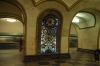 Moscow underground - stained glass. RU