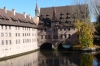 Heilig-Geist-Spital (Hospice of the Holy Spirit) bridge on the  Pegnitz River
