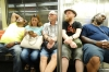 Bruce & Evan travel on NY subway with some weary travelling companions