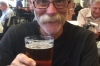 Bruce's last beer in USA, at Newark Airport. He was asked for his ID for this one. The beers have been good.