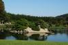 Birds fishing, Korakuen Gardens, Okayama, Japan