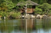 Teahouse on the lake, Korakuen Gardens, Okayama, Japan