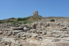 Tharros, Roman ruins, predominately basalt and Tower of S. Giovanni