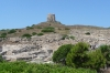 Tharros, Roman ruins, predominately basalt and Tower of S. Giovanni, Sardinia IT
