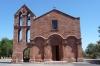 Church of St Pietro, Zuri, 12thC relocated when lake built in 1923, Sardinia IT