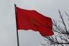 Kyrgyrzsan flag. Solomon's Throne, Osh KG