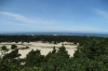 Overlooking the harbour and sand dunes at Winchester Bay, OR