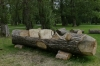 Fallen log becomes a Fred Flinstone car, Pärnu EE