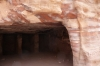 Petra - inside a tomb, multi coloured rocks