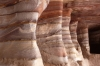 Petra - inside a tomb, multi-coloured rock