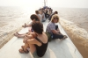 "On the ""fast boat"" from Siem Reap via the Tonle Sap lake and river"