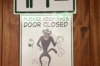Sign on the toilet door at the Birds of Eden Sanctuary, Plettenberg Bay, South Africa