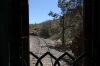 End of the last carriage on the Copper Canyon train