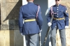 Changing of the guard, outside the Palace gates. Prague CZ.