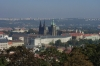 Prague castle from the Petrin Tower. CZ