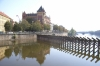 Vltava river near the Charles Bridge. Prague CZ