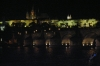 Charles Bridge and the Castle at night. Prague CZ