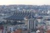 Football stadium from Cathedral of Blessed Mother Teresa, Pristina XK