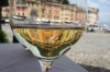 A glass of wine in Portofino