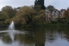 Lake and mansion at Bletchley Park GB