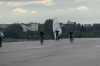 Wind surfing on the Southern runway,  Tempelhofer Feld, the old Berlin Tempelhof Airport DE