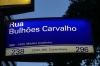 Street signs in Rio de Janiero, with so much information. BR