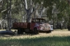 Old Bedford truck at Pfeiffer's Winery near Lake Moodemere VIC