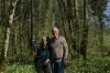 Martine and Denis. Jonquiles (daffodils) in the Forest near Eclépens CH