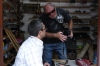 Bruce shows of his photoraph to a cobbler in the Artesian Market in Safranbolu TR