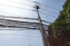 Electrical wiring on the street  on Le Loi street, Saigon VN