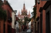 Parroquia de San Miguel Arcangel, from Calle Diez de Sollano, San Miguel de Allende