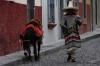 Man and donkey, Calle Diez de Sollano, San Miguel de Allende